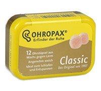 Беруши немецкие для сна Оhropax (Оропакс)  Classic 12 штук восковые (6 пар)