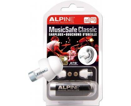 Беруши для музыкантов Alpine Hearing Protection MusicSafe Classic Earplugs
