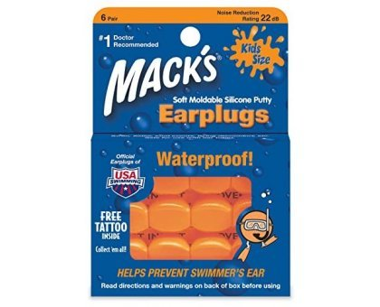 Беруши силиконовые Macks Orange (6 пар)